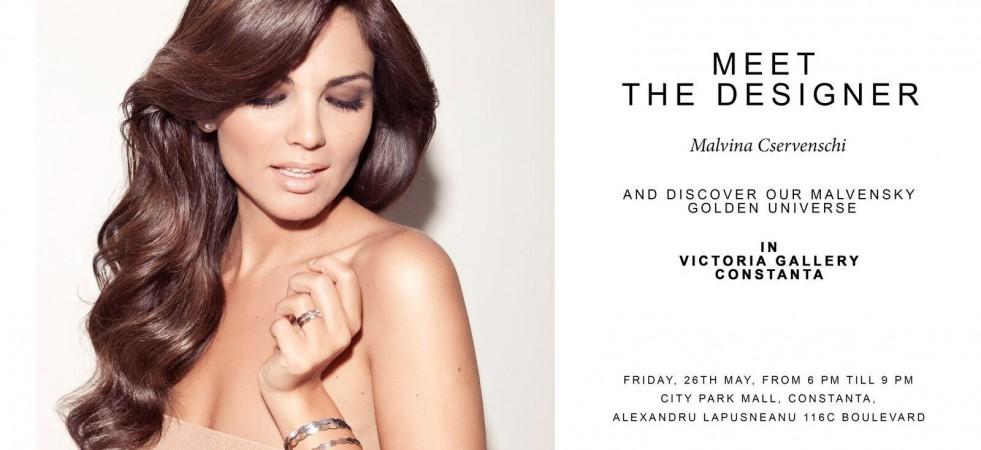 Meet the Designer - Malvina Cservenschi vine la Victoria Gallery City Park Mall