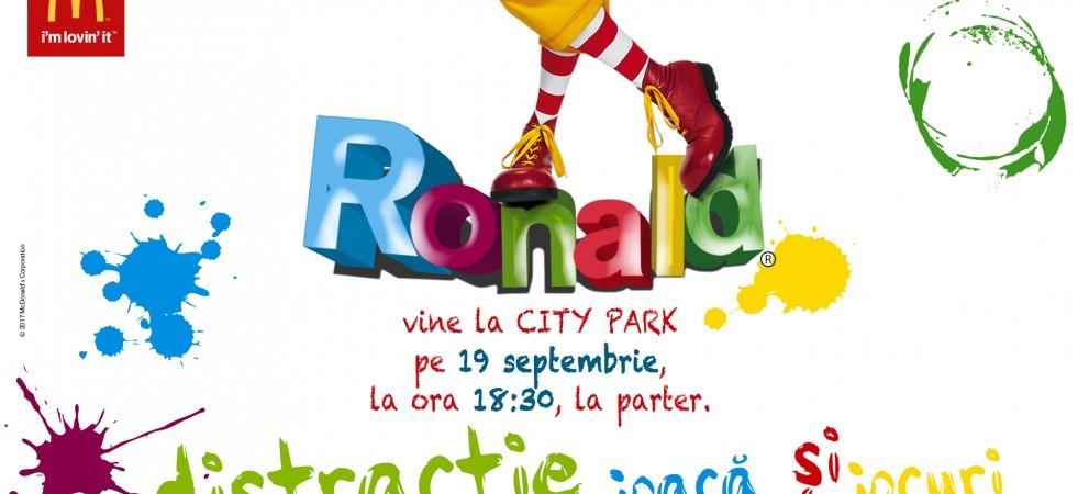 Ronald vine la City Park Mall!