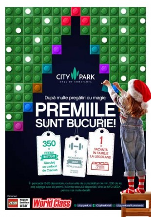 Iarna aceasta avem premii cu bucurie la City Park Mall!